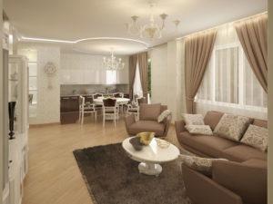 Гостиная и столовая: две зоны одного комнатного пространства