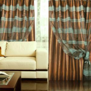 Двойные шторы — Практичная идея в современном интерьере на 84 фото
