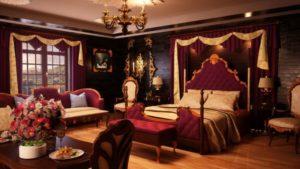 Бордовые шторы — Яркий вариант для декорирования в интерьере (82 фото)