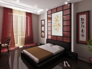 Японский стиль для спальной