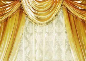 Золотые шторы — Шикарный дизайн в современном интерьере (80 фото)