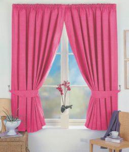 Розовые шторы — 71 фото нежного оформления интерьера!