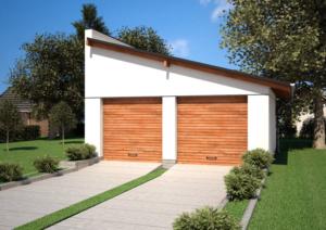 Односкатная крыша для гаража