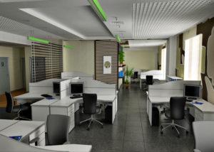 Оформление стен в помещении офиса