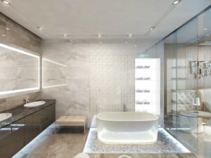 Современная ванная с нужным оборудованием