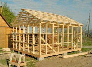 Самостоятельное строительство бани с каркасными стенами