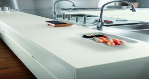 Обустройство интерьера кухонного. Современные акриловые столешницы для кухни