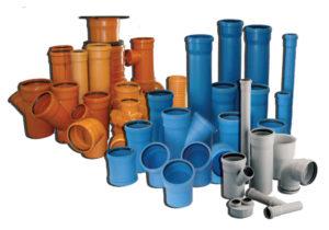 Виды водопроводных и канализационных пластиковых труб