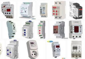 Приборы контроля и сигнализации. Реле напряжения