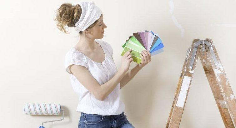 покрасить потолки и стены самому