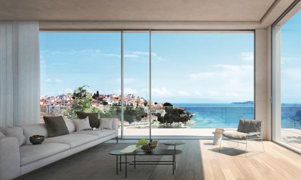 современные дома с панорамным остеклением фото