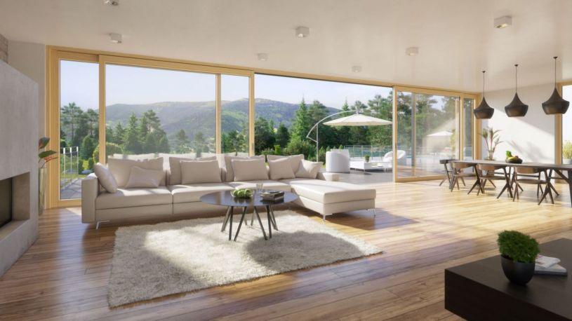 планировки домов с панорамным остеклением