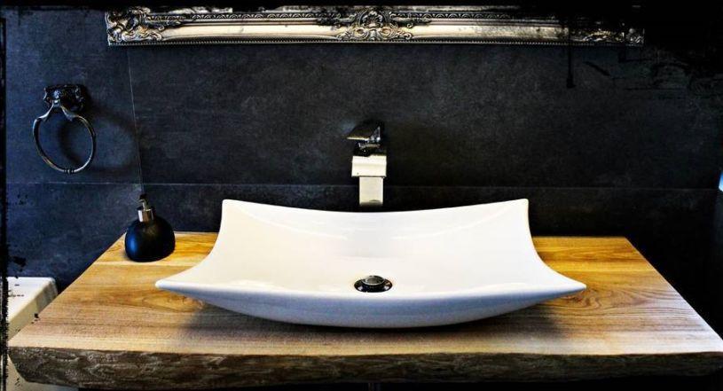 новый стиль столешницы в ванной комнате