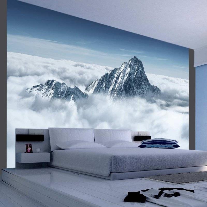 фотообои 3д для спальни над кроватью