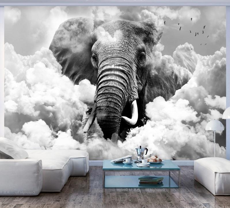 3d фотообои слон