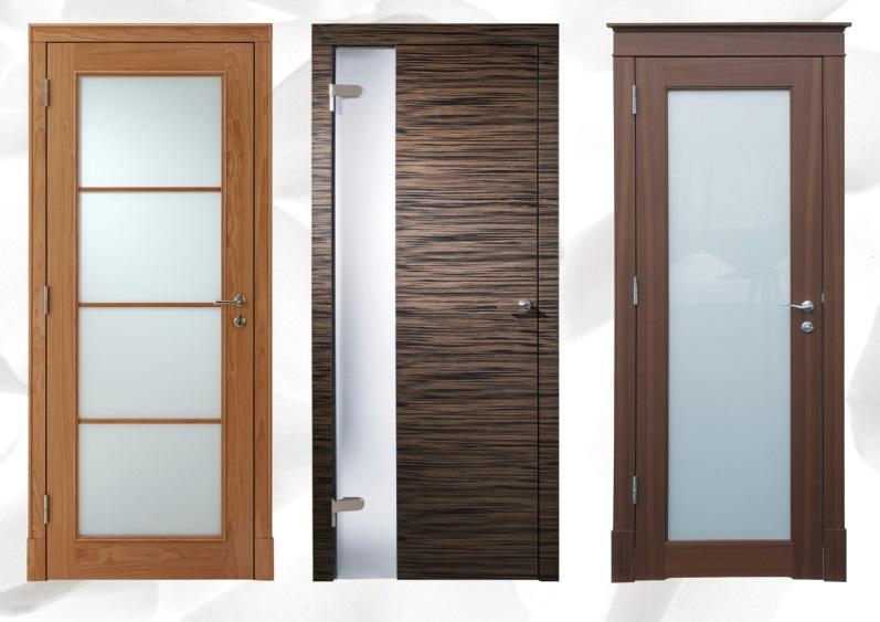 двери шпонированные стекло
