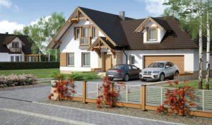 Как можно интересно разнообразить фасад частного дома?